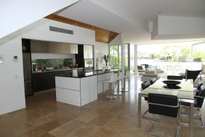 Remodelled kitchen with island